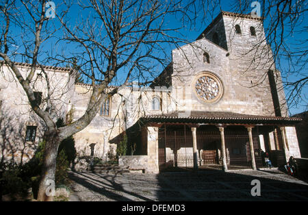 Collegiate church of Saints Cosmas and Damian (1474), Covarrubias. Burgos province, Castilla-León, Spain - Stock Photo