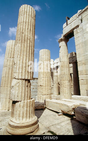 The Propylaea, Acropolis. Athens, Greece - Stock Photo