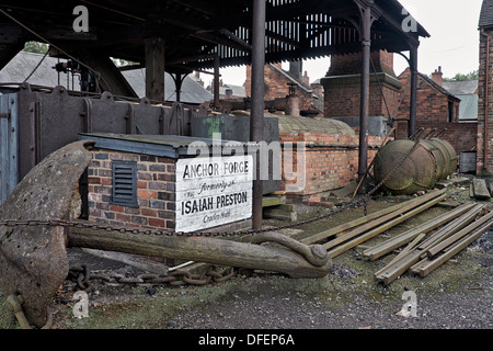 Workshop, foundry forge and yard at the Black Country Living Museum Dudley West Midlands England. - Stock Photo
