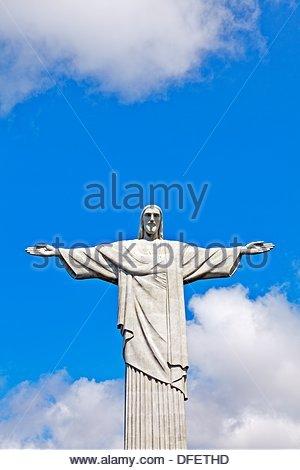 Statue of Christ the Redeemer, Rio de Janeiro, Brazil - Stock Photo