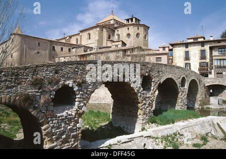 Queralt bridge. Vic. Spain - Stock Photo