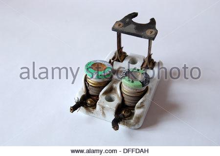 1950s vintage ceramic fuse box electrical circuit breaker edison fuse box vintage circuitry fuse box #14
