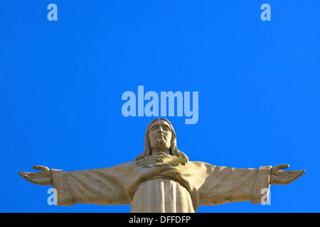 Statue of Christ, Cristo Rei, Lisbon, Portugal, South West Europe - Stock Photo