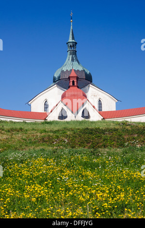 Pilgrimage church of St. John of Nepomuk. Zdar nad Sazavou, Czech Republic - Stock Photo