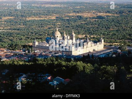 El Escorial monastery. Madrid, Spain - Stock Photo