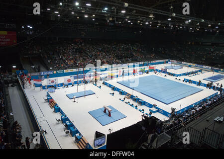 Antwerp, Belgium. 3rd Oct, 2013. General view, OCTOBER 3, 2013 - Artistic Gymnastics : 2013 World Artistic Gymnastics - Stock Photo