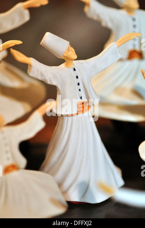 Turkey, Istanbul, Shop Display, Whirling Dervish Souvenirs - Stock Photo