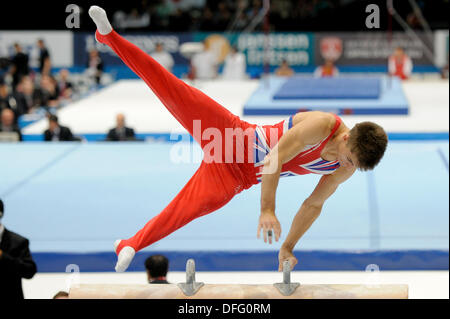 Antwerp, Belgium. 3rd Oct, 2013. World Championship Gymnastics Antwerp Belgium. Mens All -Around Finals 3.10.13. - Stock Photo