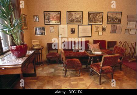 Waiting room. Sigmund Freud Museum. Vienna. Austria - Stock Photo