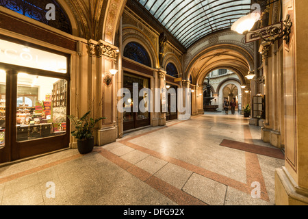 Freyung Passage or Ferstel Passage shopping arcade, Innere Stadt, Vienna, Vienna State, Austria - Stock Photo