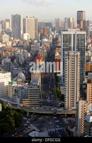 Minato-ku, City view from Tokyo Tower, Tokyo, Japan. - Stock Photo