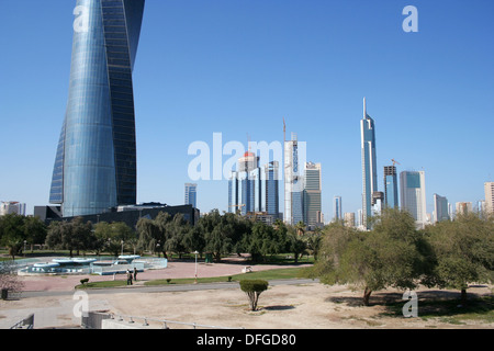 Skyscrapers, Kuwait city - Stock Photo