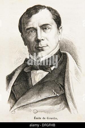 Émile de Girardin 22 June 1802 in Paris — 27 April 1881 in Paris, was a French journalist, publicist, and politician - Stock Photo