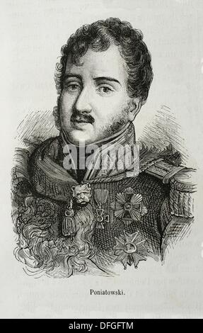 France, Poland-History-19th Century - Prince Józef Antoni Poniatowski , May 7, 1763 - October 19, 1813 was a Polish - Stock Photo