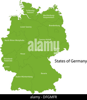 Green Germany map - Stock Photo