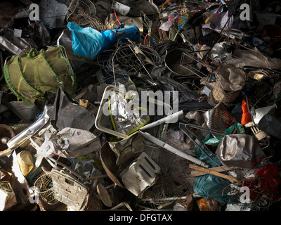 First step in recycling household waste is the separation of large items, seen here. Stock Photo