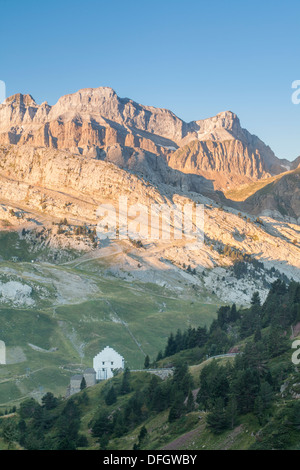 Sunrise in Somport valley, Somport, Huesca, Spain - Stock Photo