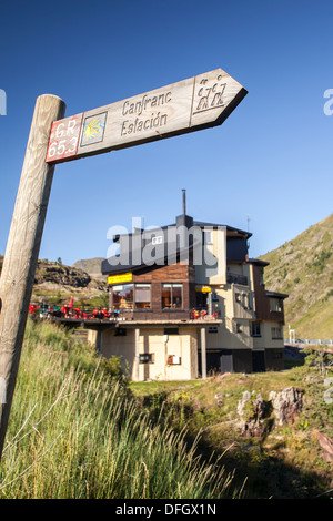 Pilgrims hostel in St. Jame's way in Somport, Huesca, Spain - Stock Photo