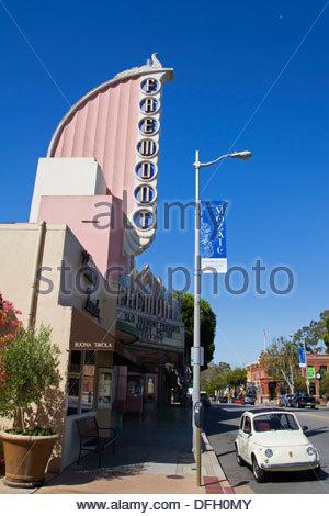 Fremont Art Deco Movie Theater,Monterey Street,San Luis Obispo, County,California,USA - Stock Photo