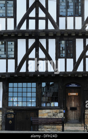 A beautiful old timber framed building in Lincoln UK - Stock Photo