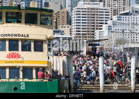 sydney ferry in darling harbour,sydney - Stock Photo