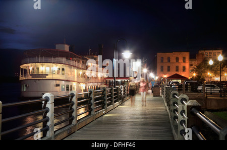 People Walking Along The Boardwalk On The New South Wales