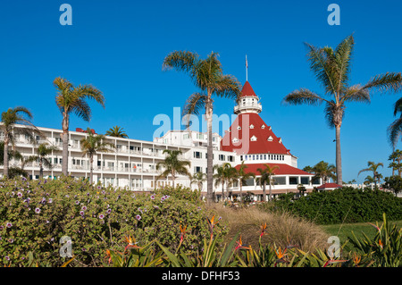 California, San Diego, Coronado Island, Hotel del Coronado - Stock Photo