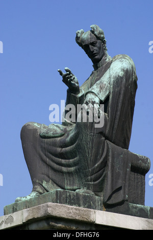 Statue of Bishop Josip Juraj Strossmayer in Zagreb, Croatia - Stock Photo