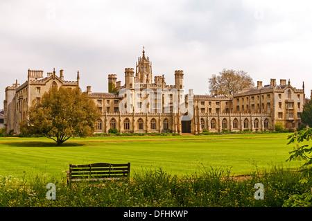 St. Johns College in Cambridge, UK - Stock Photo