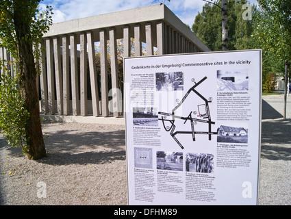 KZ-Gedenkstatte, memorial museum building, Dachau KZ-lager concentration camp, Dachau, Munich, Bayern, (Bavaria), - Stock Photo