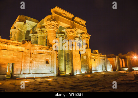 Temple of sobek and horus at kom ombo in egypt - Stock Photo
