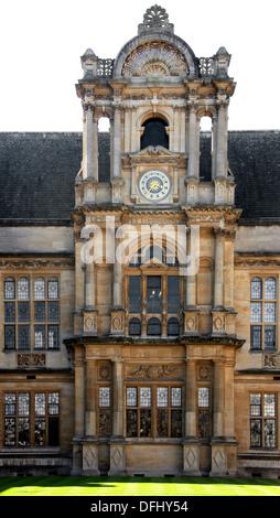 Oxford University Examination Schools and Clock Tower, Merton Street, Oxford, Oxfordshire, UK. - Stock Photo