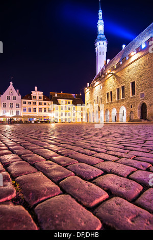 The old town square in Tallinn, Estonia. - Stock Photo