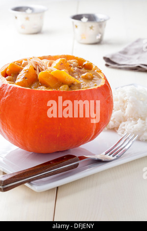 Pumpkin and Chickpea Curry - Stock Photo