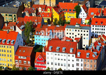 Residential buildings in Copenhagen, Denmark. - Stock Photo