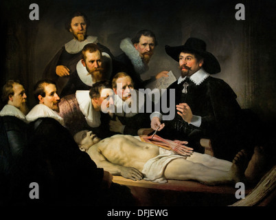The Anatomy Lesson ( de anatomische les ) of Dr Nicolaes Tulp 1632 ...