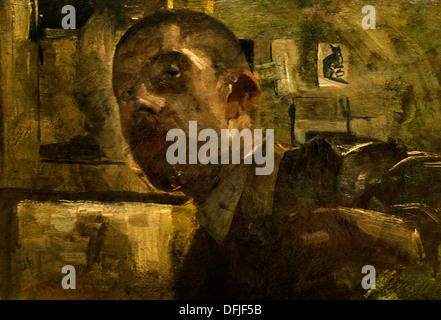 Self portrait 1885 George Hendrik Breitner 1857 - 1923 Dutch Netherlands - Stock Photo
