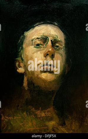 Self portrait with Pince Nez 1885 George Hendrik Breitner 1857 - 1923 Dutch Netherlands - Stock Photo