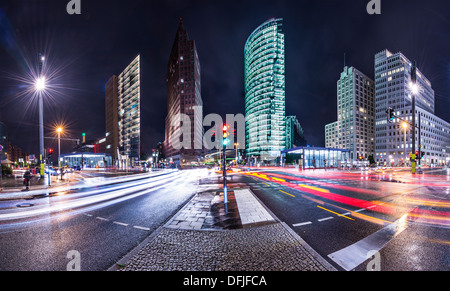 The financial district of Berlin, Germany known as Potsdamer Platz. - Stock Photo