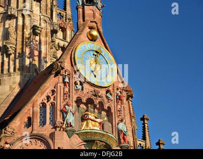 Frauenkirche in Nuremberg, Germany - Stock Photo