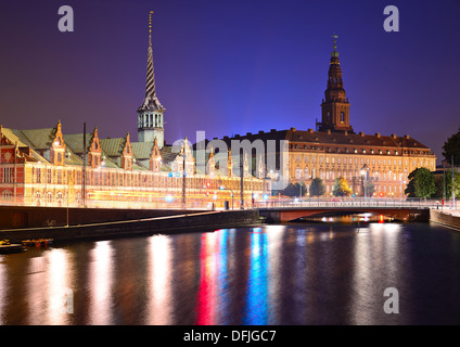 Christianborg Palace in Copenhagen, Denmark. - Stock Photo
