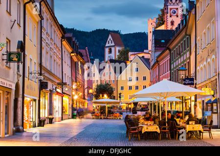 Alleyway of Reichenstrasse in Fussen, Germany. - Stock Photo