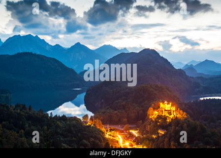 Hohenschwangau Castle in the Bavarian Alps of Germany. - Stock Photo