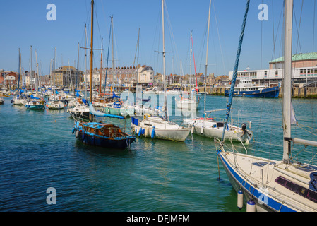Weymouth Harbour, Dorset, England - Stock Photo