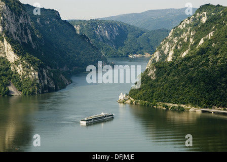 Danube river at Iron Gate gorge, Serbia - Stock Photo