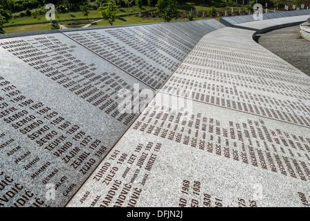 Part of the Srebrenica Genocide Memorial on June 25, 2009 in Potocari, Bosnia and Herzegovina. - Stock Photo