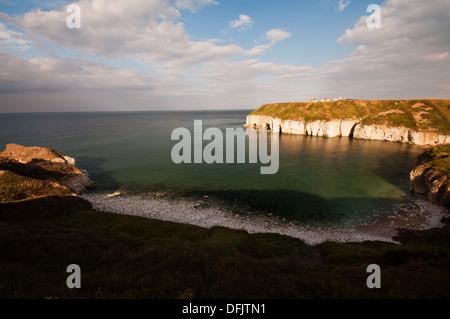 Thornwick Bay, near the East Yorkshire coastal village of Flamborough. - Stock Photo