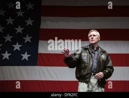 US Secretary of the Navy Ray Mabus during a visit to Naval Base Kitsap Bremerton February 6, 2013 in Bremerton, - Stock Photo