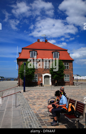 Baumhaus in the old harbour of Wismar, Baltic Sea, Mecklenburg West Pomerania, Germany - Stock Photo