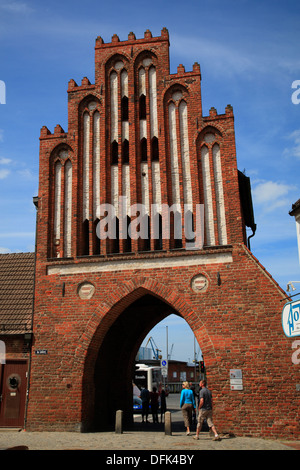 Wassertor in Wismar, Baltic Sea, Mecklenburg West Pomerania, Germany - Stock Photo